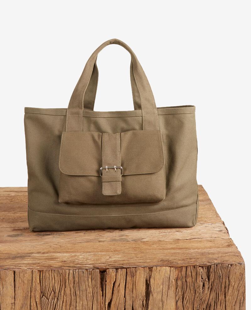 Shopper bag Kaki Fanvas