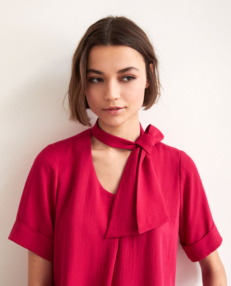 Blouse with removable tie Fushia Ipex