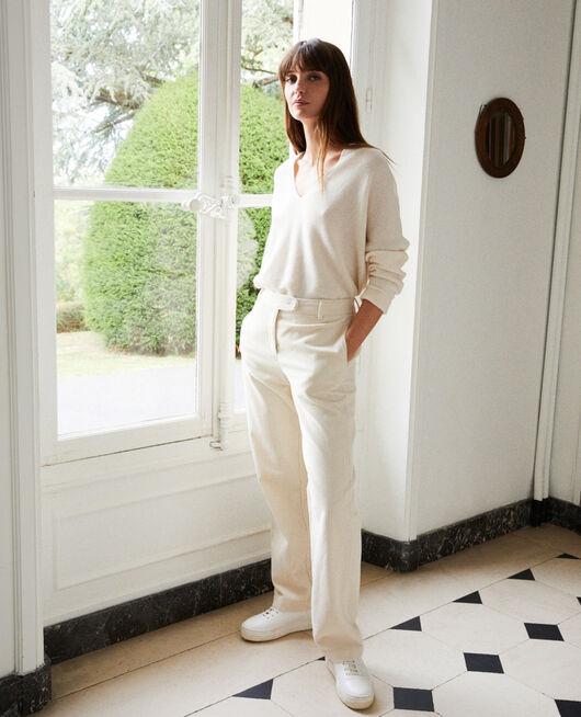 Corduroy trousers OFF WHITE