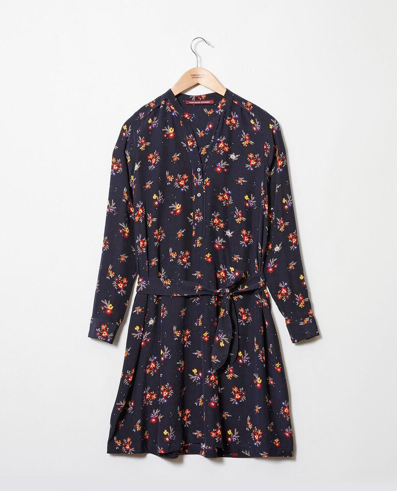 Shirt dress with belt Bouquet deep well Jarine