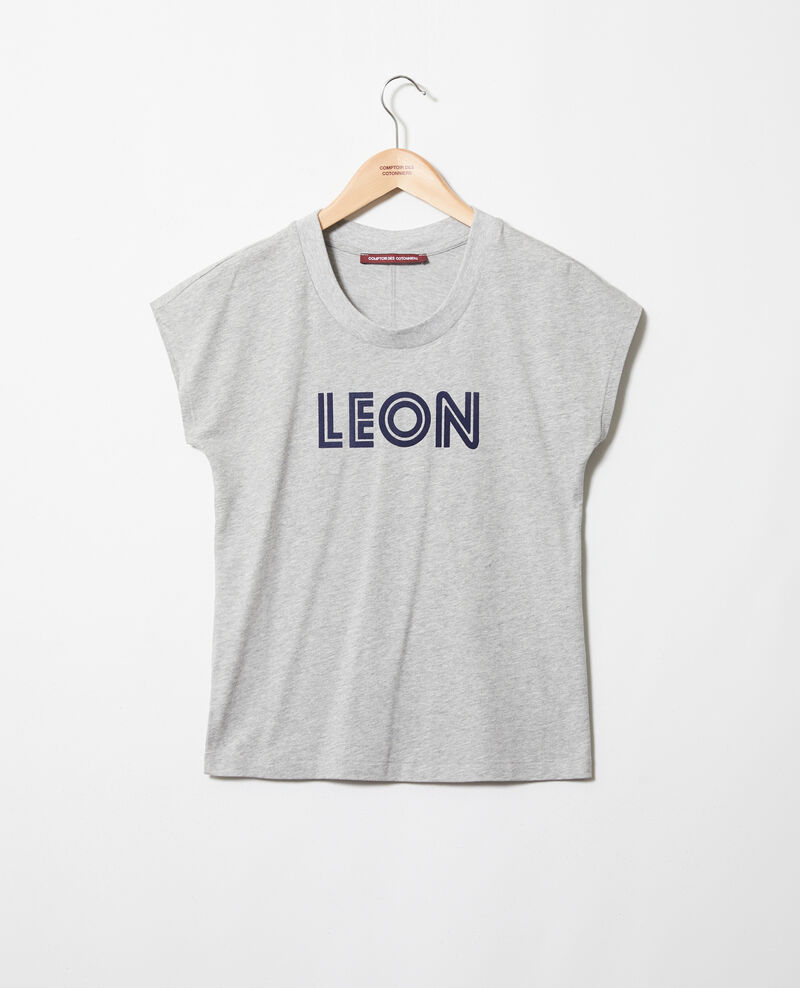 """Léon"" t-shirt Heather gr/navy Ithera"