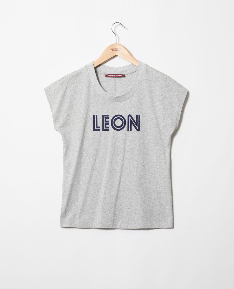 """""""Léon"""" t-shirt Heather gr/navy Ithera"""