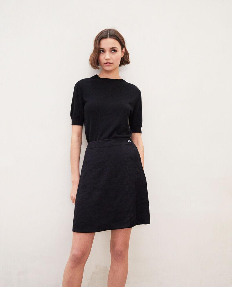 Wrap skirt Noir Irona