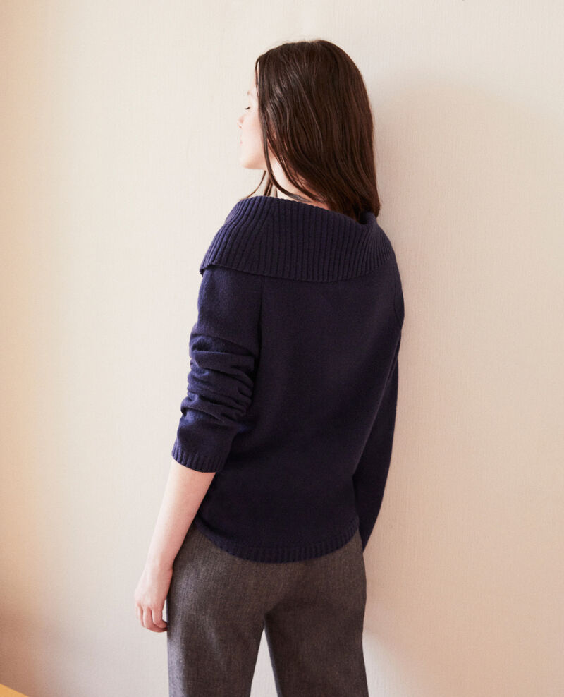 Jumper with cable stitch details Peacoat Girma