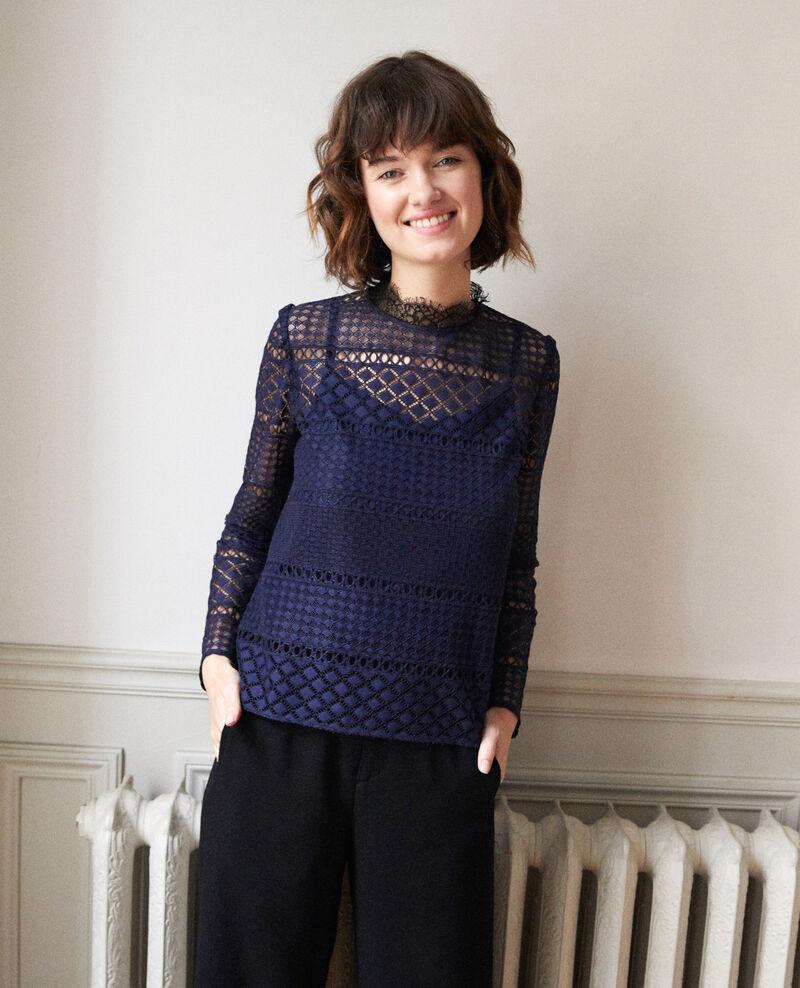 Openwork lace blouse Peacoat Garian