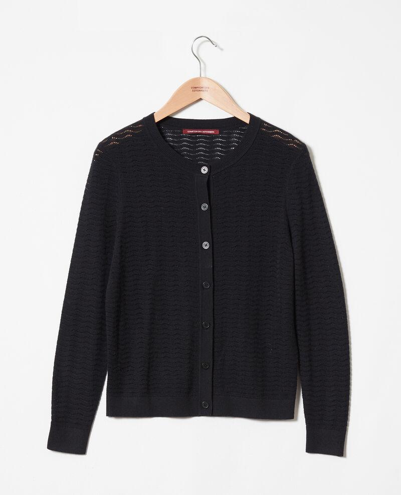 Novelty wool cardigan Noir Jemuel