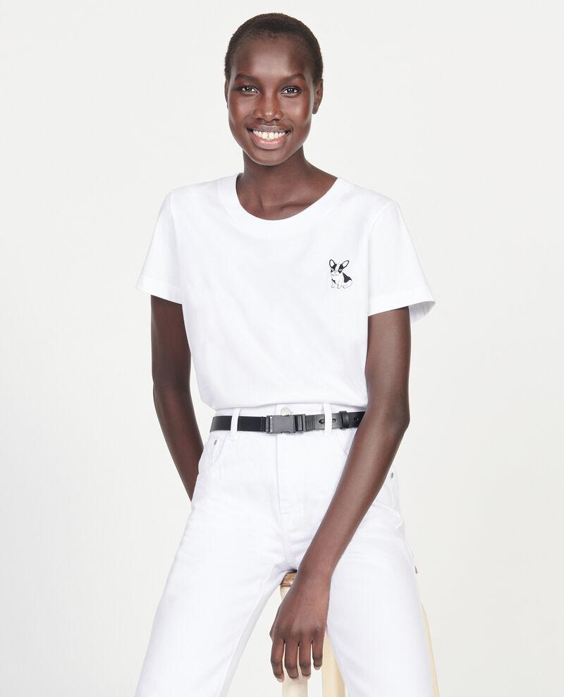Léon cotton t-shirt Optical white Lenou