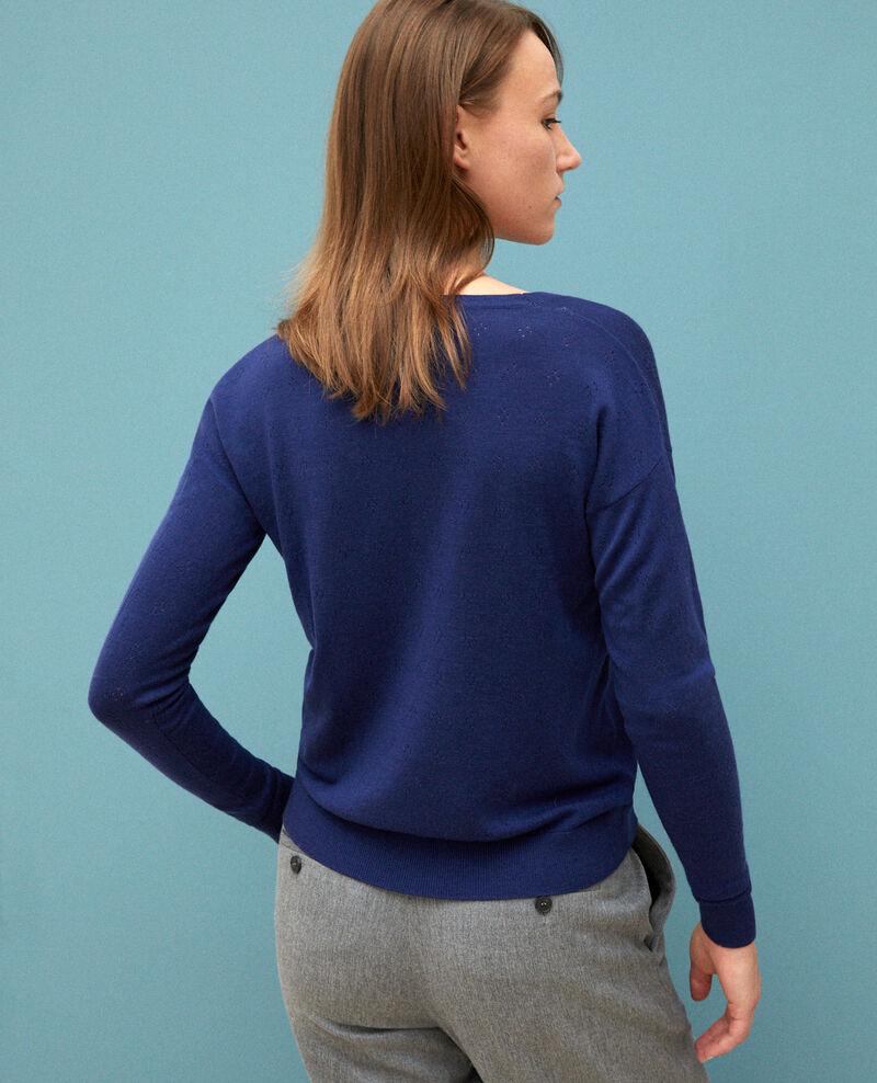 Merino wool jumper Medieval blue Garago