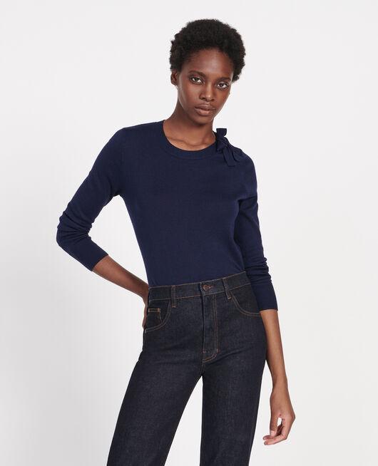 Silk and cashmere blend jumper MARITIME BLUE