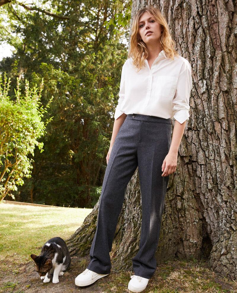 Wool blend suit trousers Heather grey Jermes