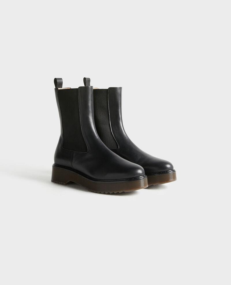Leather boots Black beauty Petite