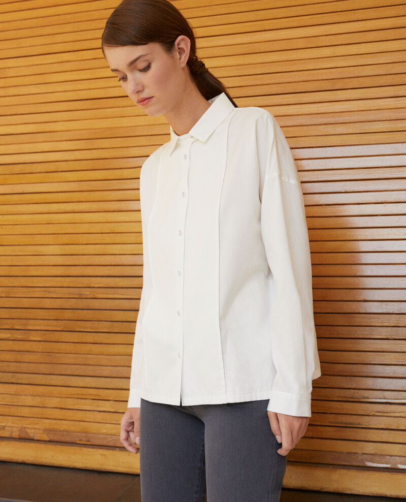 Straight-cut shirt White Gorani