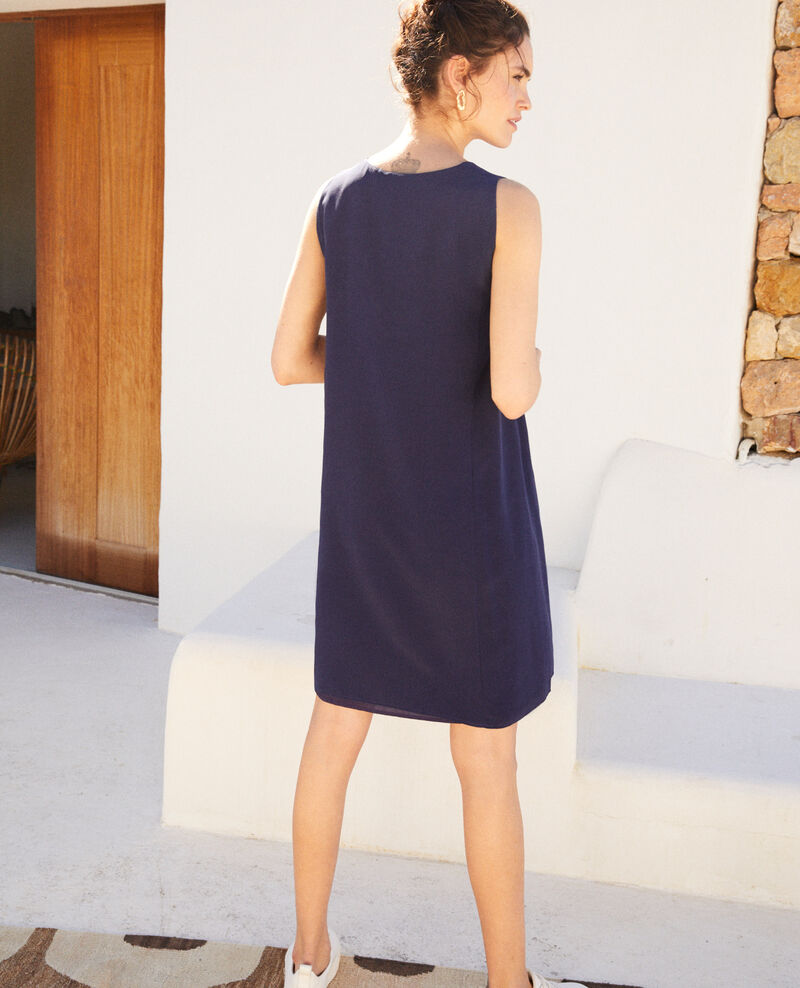 Round neck dress Ink navy Idark