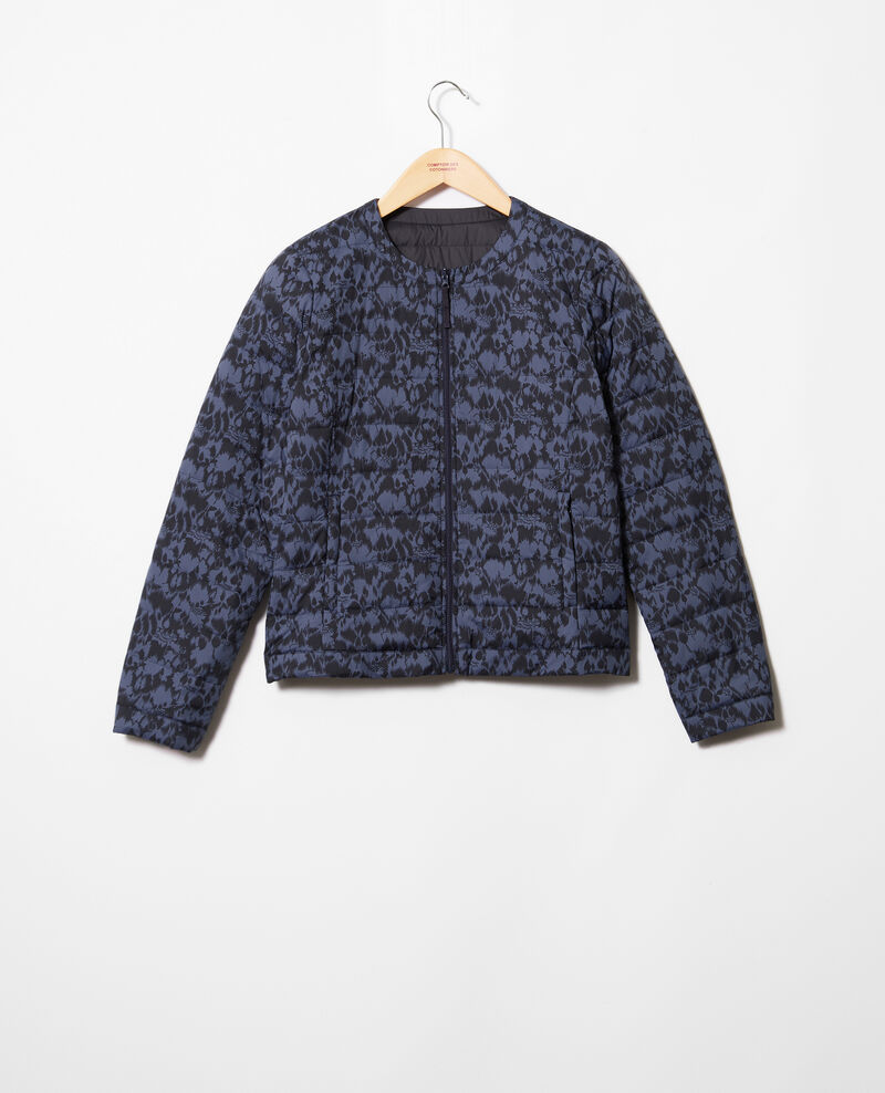 Mademoiselle Plume down jacket  Ikat dark navy Illopa