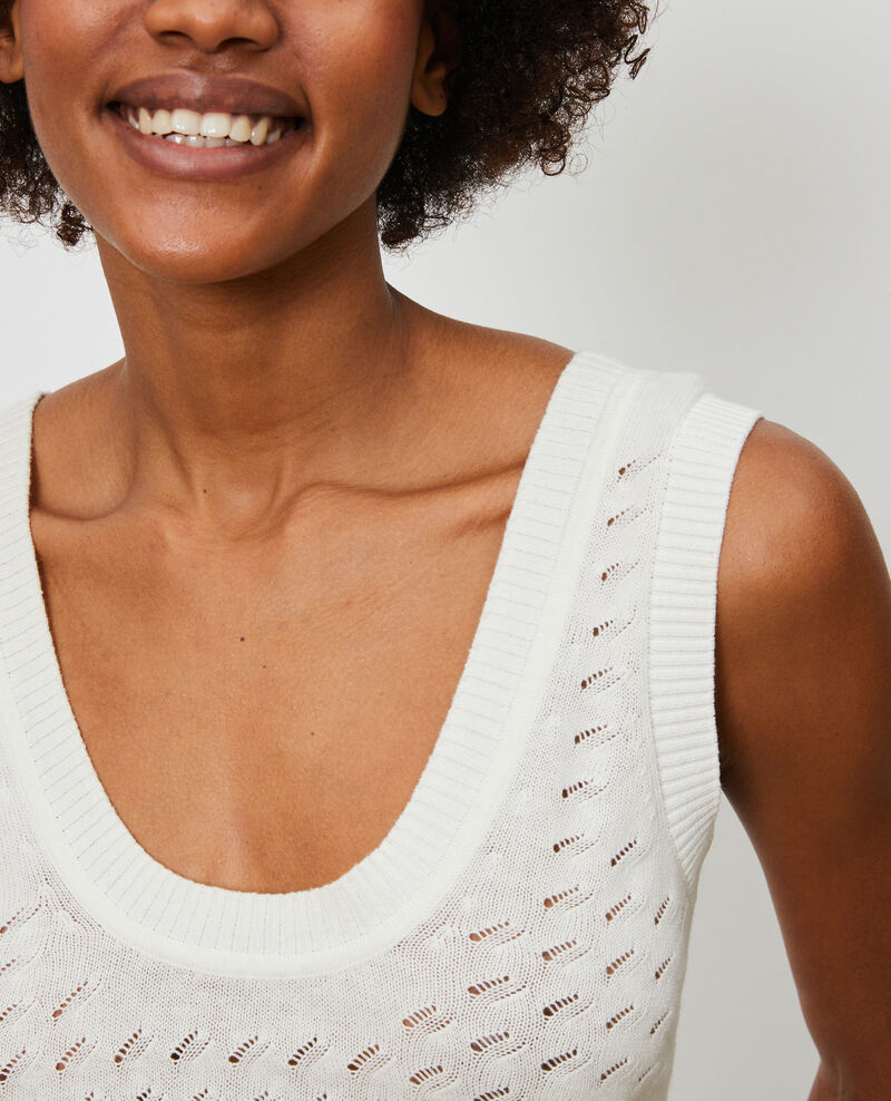 Cotton and linen vest Gardenia Nuille