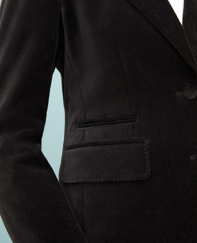 Velvet blazer  Black Gabrielo