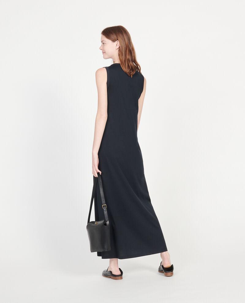 Mercerised cotton maxi dress Black beauty Larosa