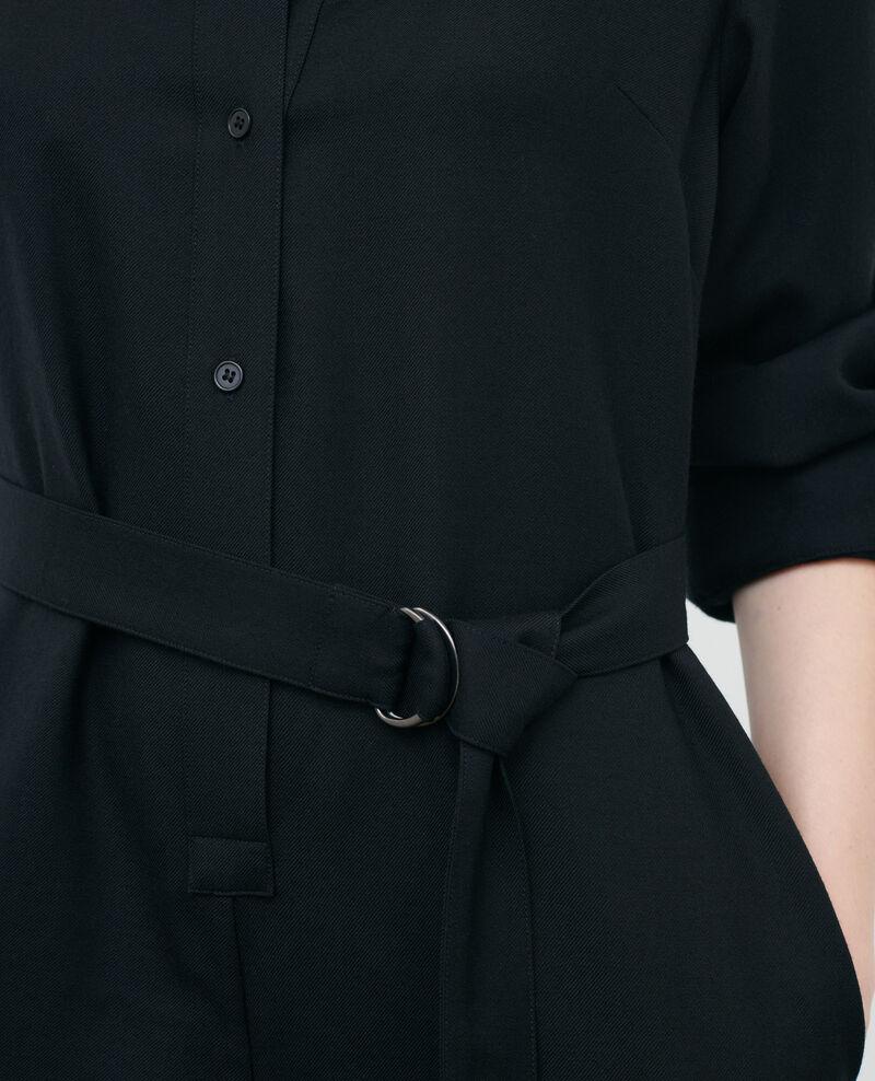 Wool jumpsuit Black beauty Pampelune