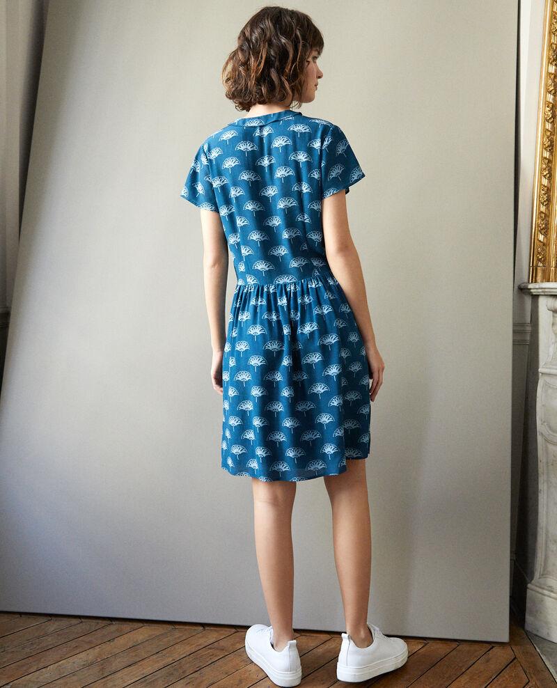 V neck dress Blue Ganaela