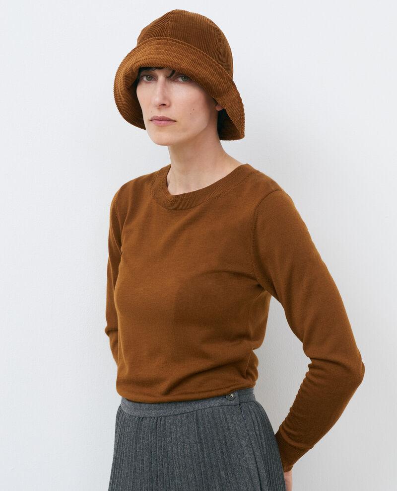 Round neck wool jumper Monks robe Passy