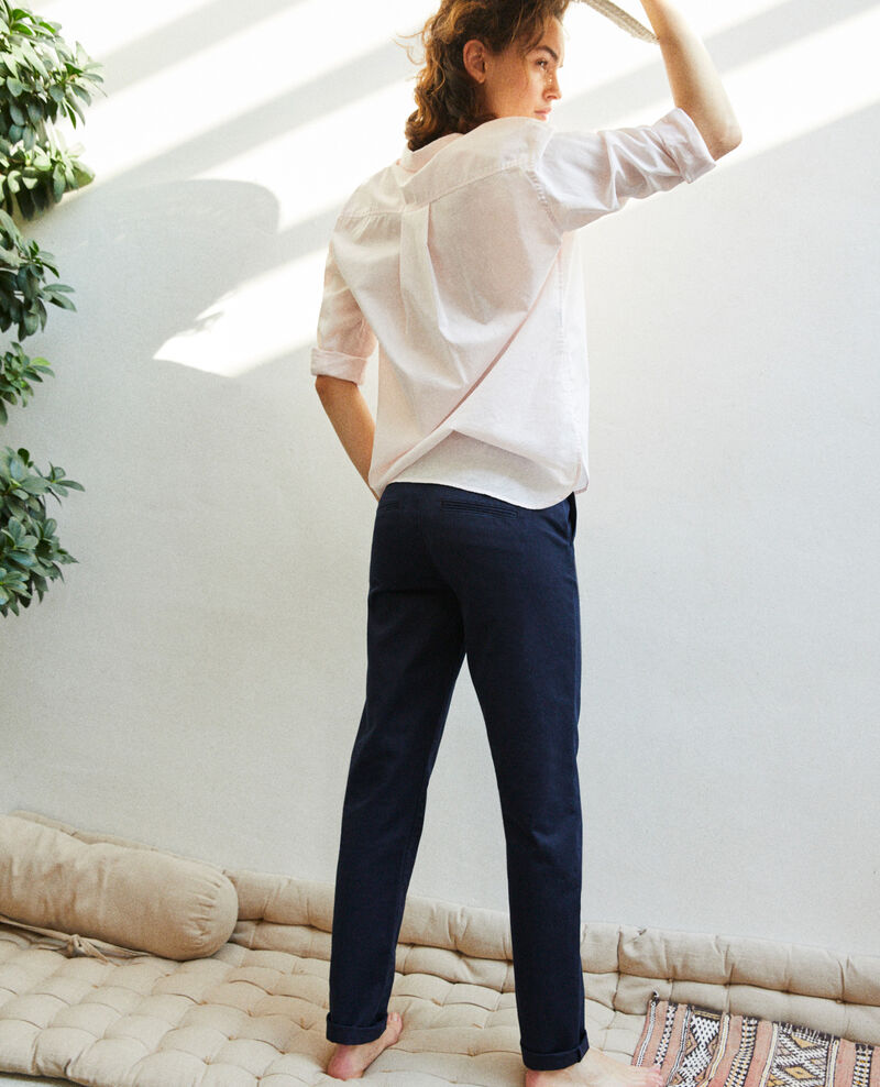 Canvas trousers Navy blazer Irouba