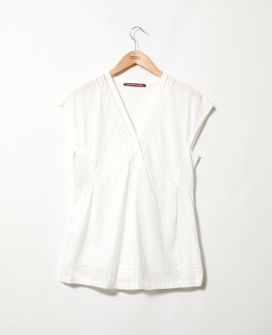 Embroidered blouse COCONUT MILK