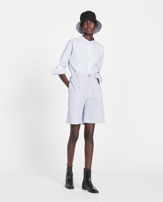 Cotton shorts SEERSUCKER STRIPES