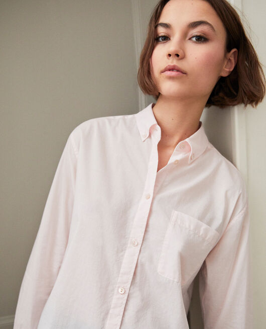 Classic cotton shirt PINK