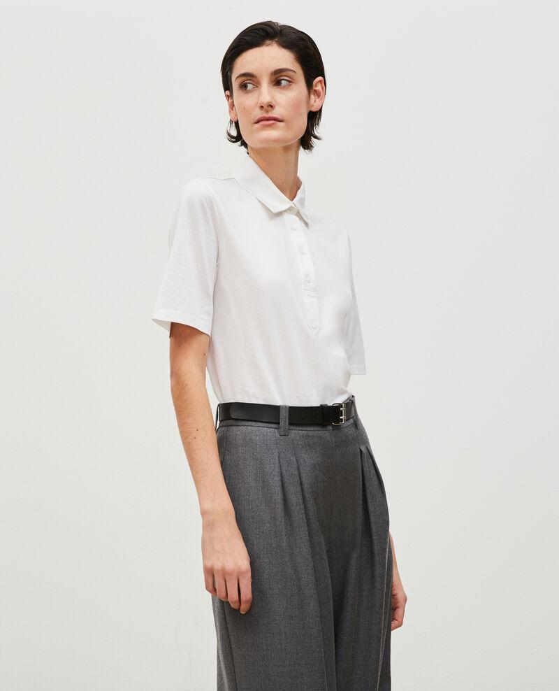 Egyptian cotton polo shirt Optical white Levas