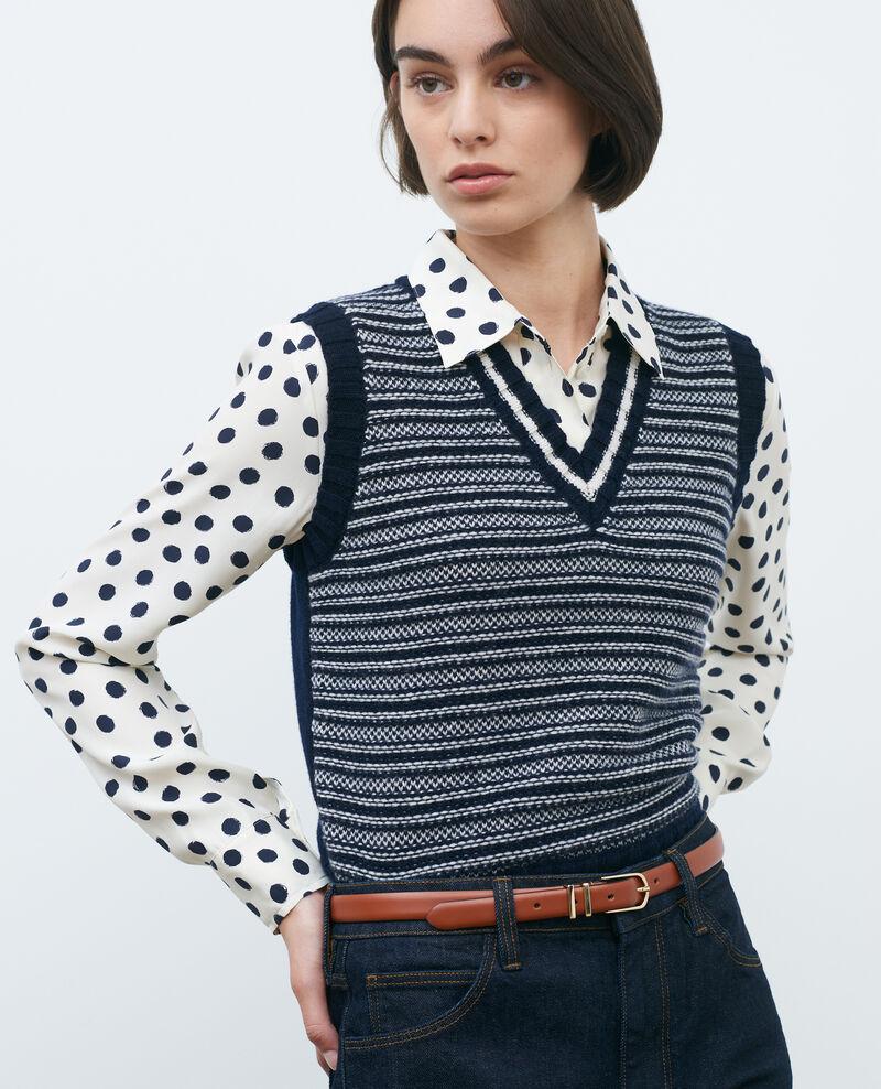 Sleeveless jacquard new wool jumper Jaqrd nv Pavilly