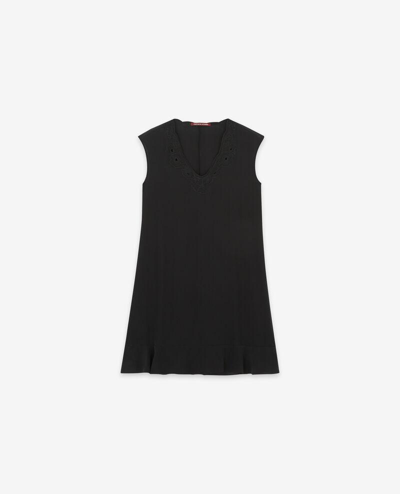 Silk dress Noir Dalienor