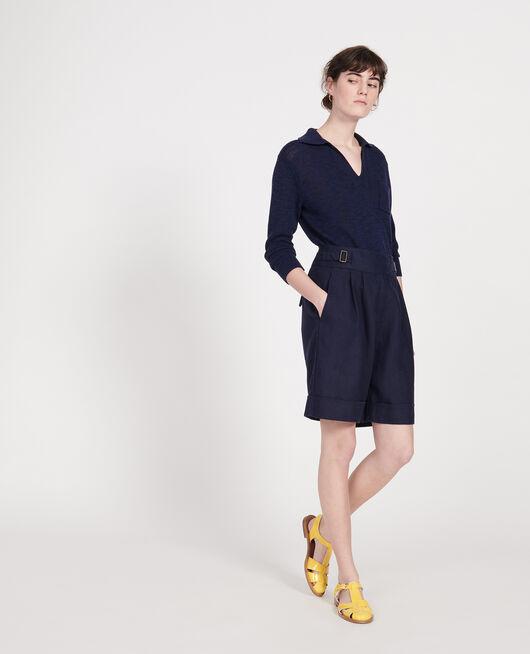 Linen shorts  MARITIME BLUE