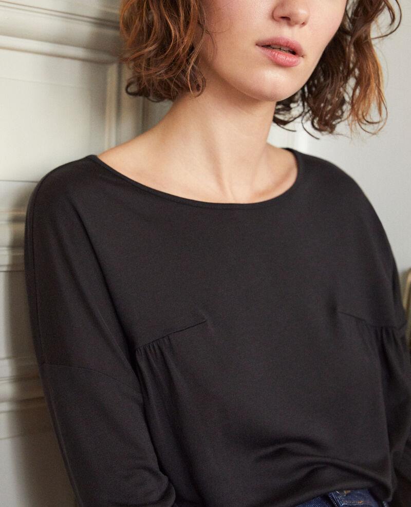 Round neck t-shirt Black Graziela