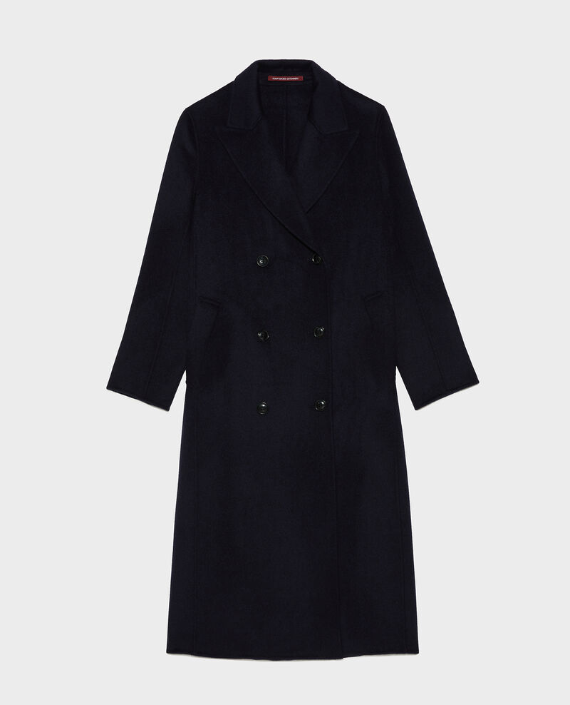 Double-sided wool and cashmere overcoat Night sky Minard