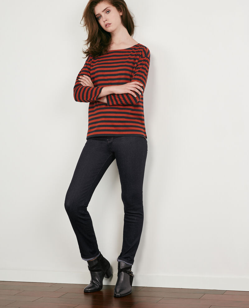 Striped t-shirt Navy/rust Ditoc