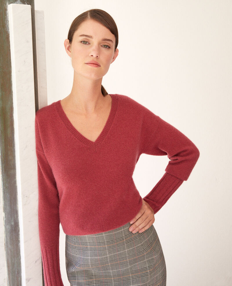 Cashmere jumper Earth red Guerin