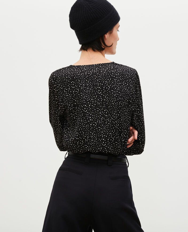 Printed long-sleeve top Print constellation black Mignon