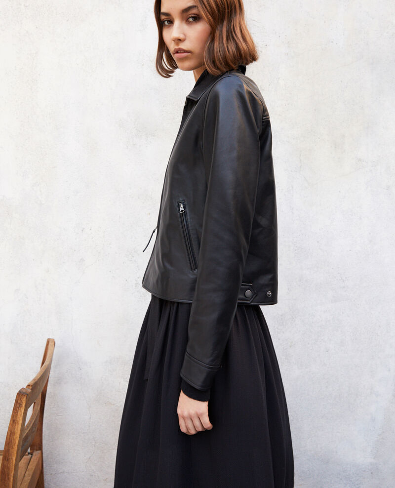 Smooth leather jacket Noir Irtylle