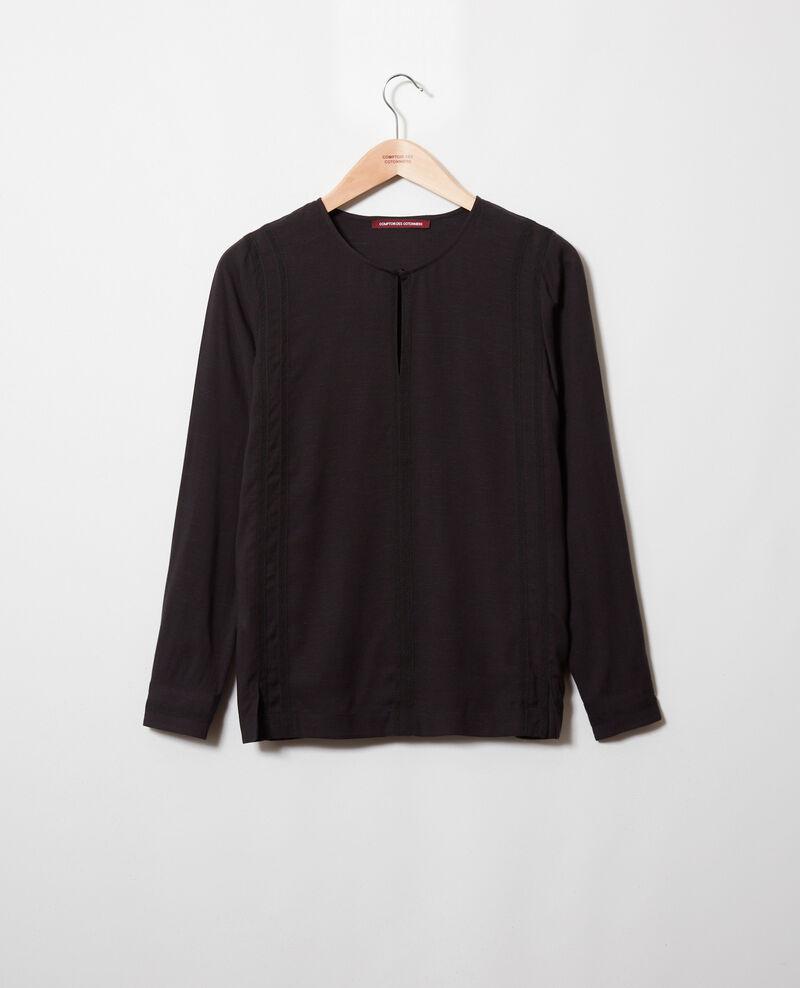 Embroidered blouse Noir Jistaline