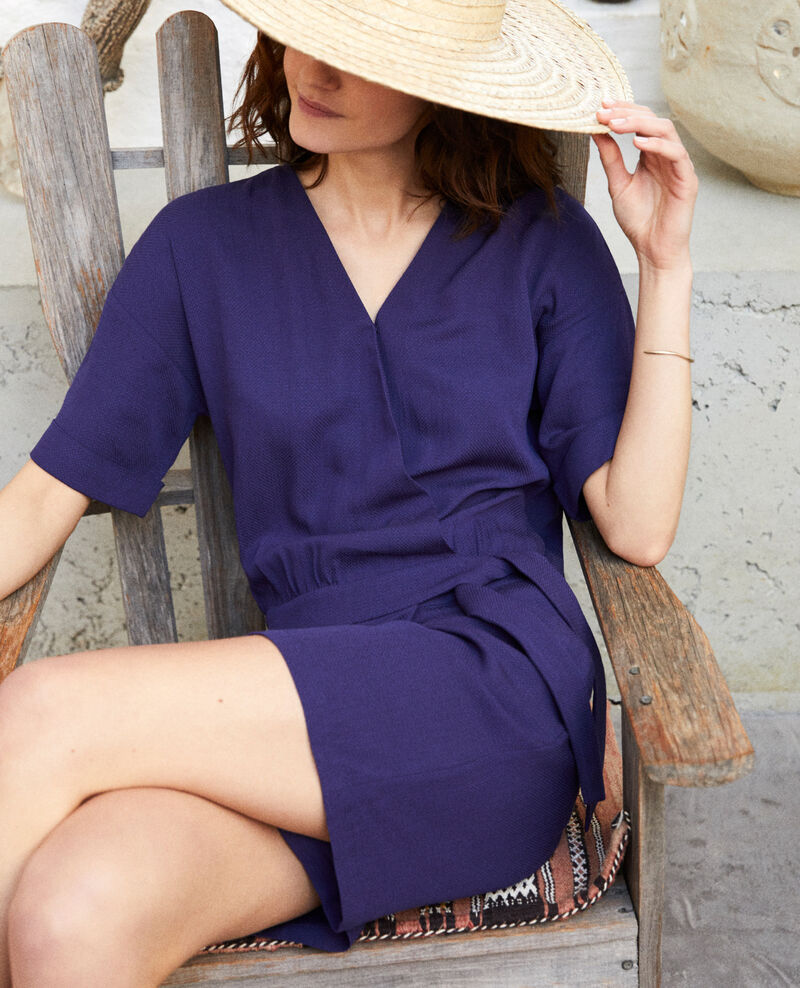 Wrap-over playsuit Ink navy Issife