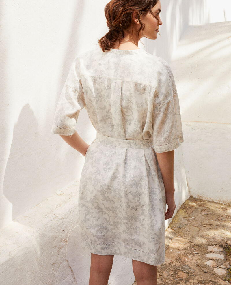 Printed linen dress Bandana blue mirage Ifete