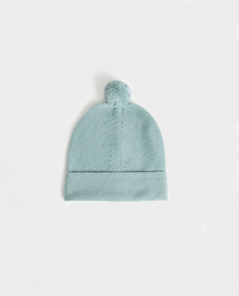 Cashmere bobble hat Chinois green Mimizan