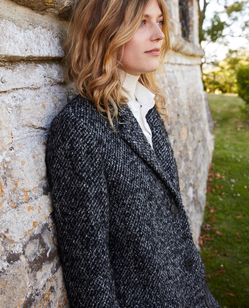 Tweed coat Grey melange Judit