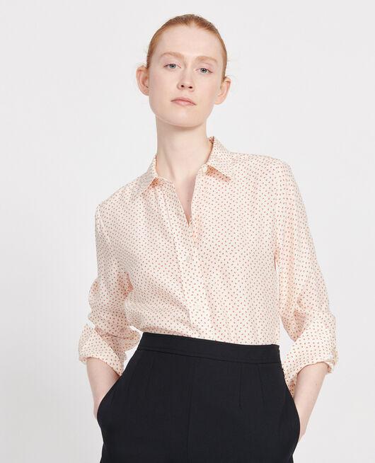Silk polka dot shirt MEMPHIS BUTTERCREAM