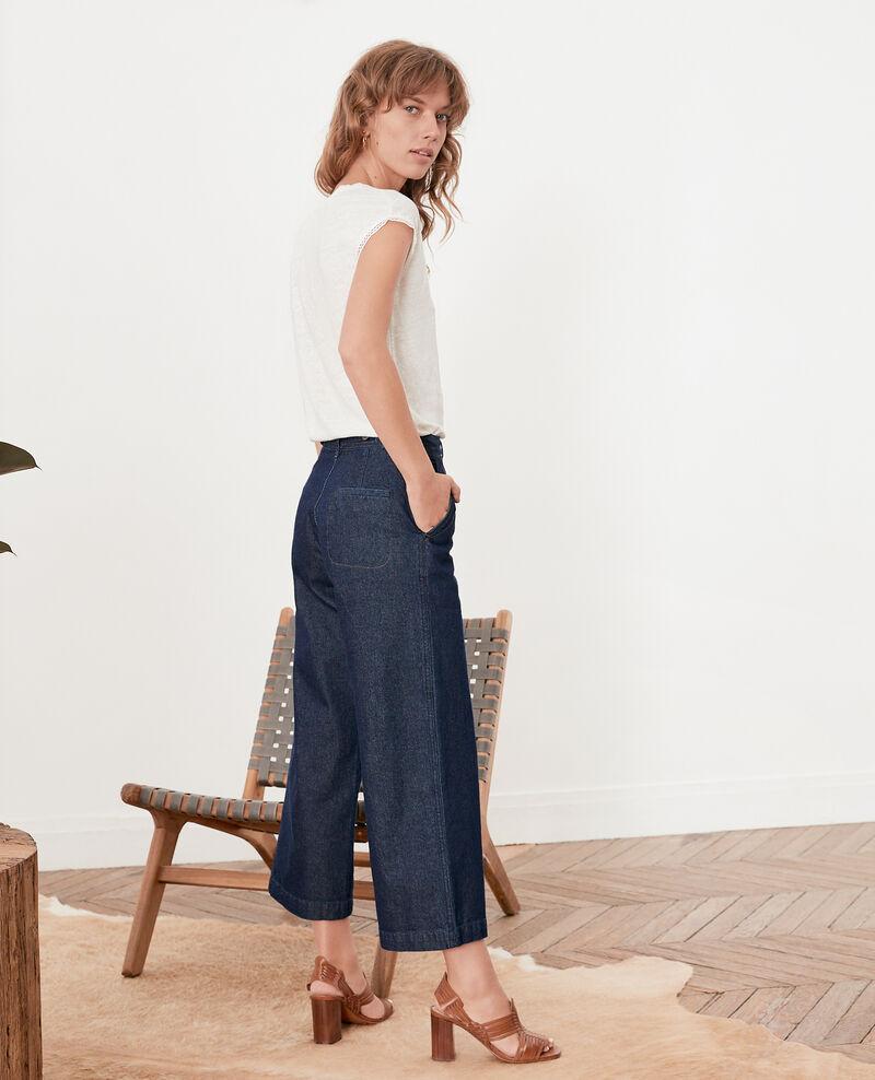 Wide cropped jeans Indigo Fobiba