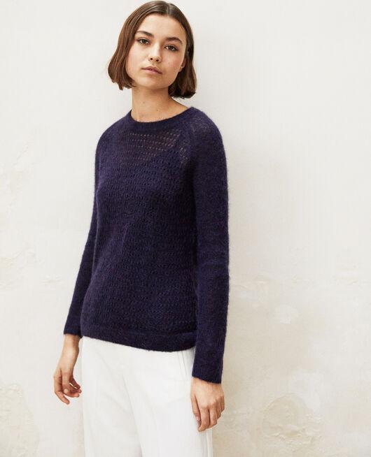 Novelty knit jumper  Bleu marine