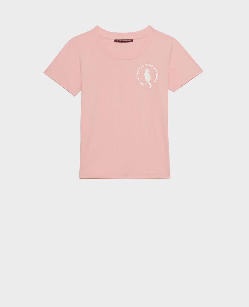 Cotton T-shirt Powder pink Nyonsa