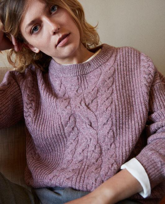 Cable-knit jumper HUSHED VIOLET