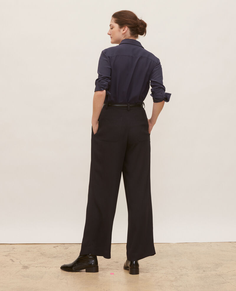 High waisted wide trousers Black beauty Mogance
