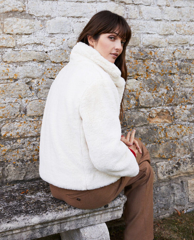 Short synthetic fur coat Off white Jakou